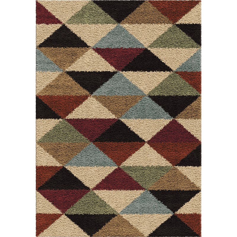 Orian Rugs Plush Triangles Pablo Multi Area Rug 7'10 X 10'10