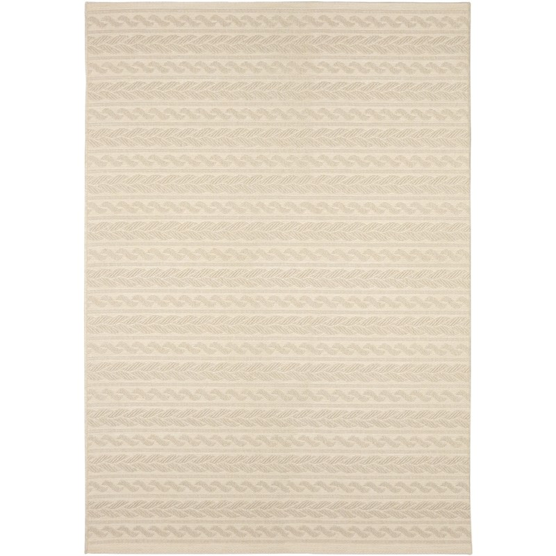 Orian Rugs Indoor/ Outdoor Knit Cableknots Ivory Area Rug 5'1 X 7'6