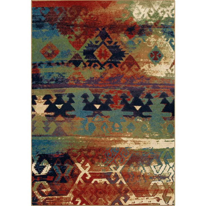 Orian Rugs Bright Color Southwest Elk River Multi Area Rug (5'3