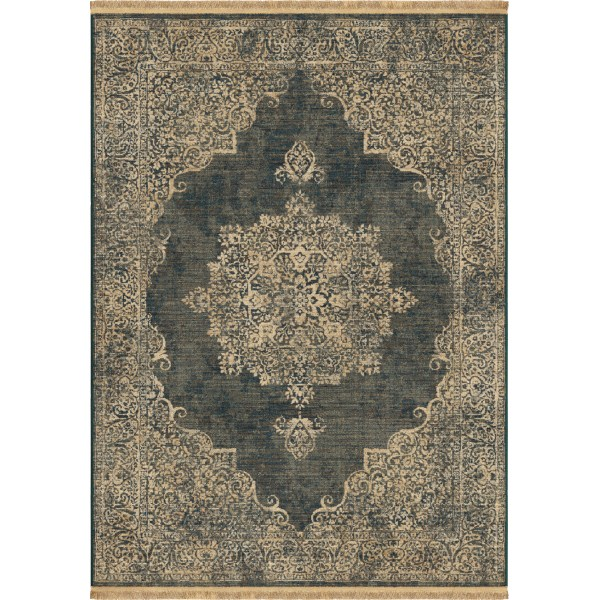 Orian Lace Kirman Denim Area Rugs