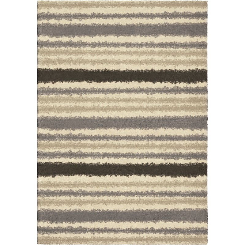 Orian Rugs Plush Stripes Petley Ivory Area Rug 7'10 X 10'10