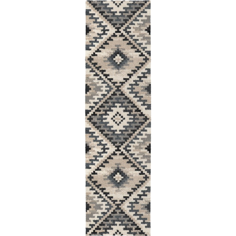 Western Sky - Muted Blue Machine Woven Area Rug