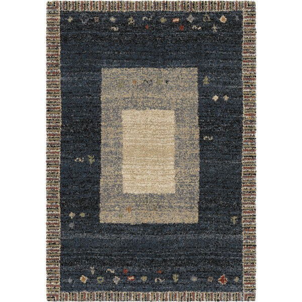 Orian Gabbeh Blocks Indigo Area Rugs