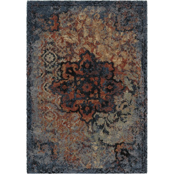Orian Distressed Kirman Sunshine Area Rugs