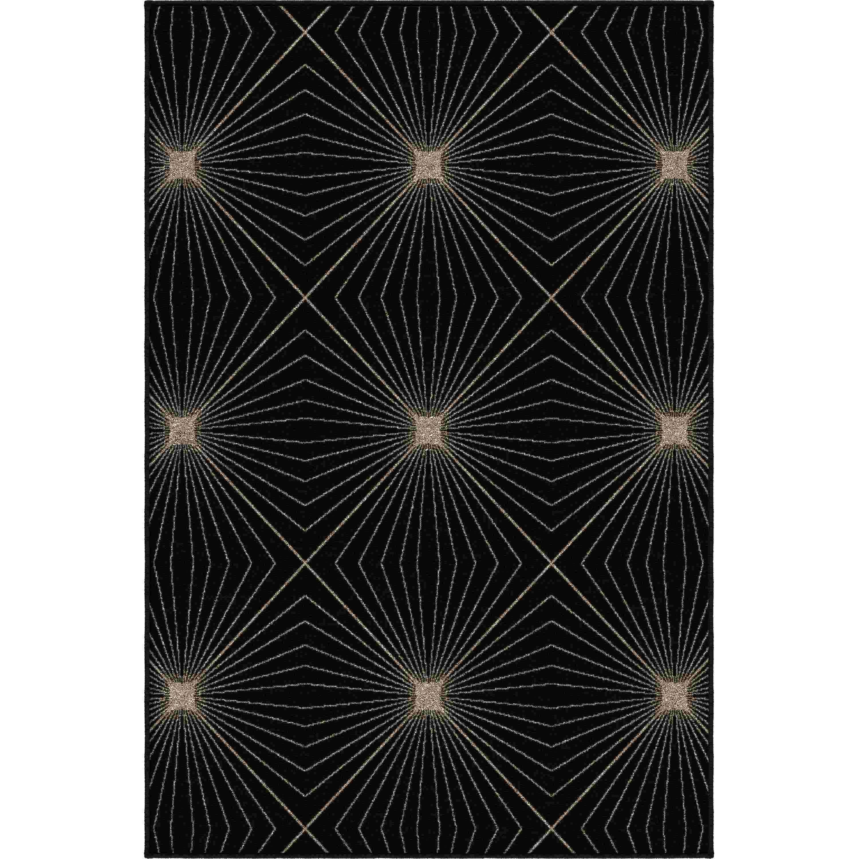 Orian Rugs Indoor Abstract Twilight Black Area Rug