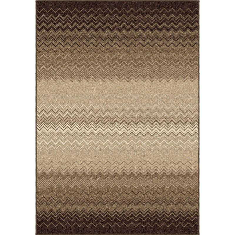 Orian Rugs Trendy Colors Chevron Zig Zag Chevron Taupe Area Rug 5'3 X 7'6