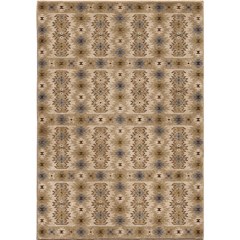 Orian Rugs Insanely Soft Southwest Kashgai Beige Area Rug 5'3 X 7'6
