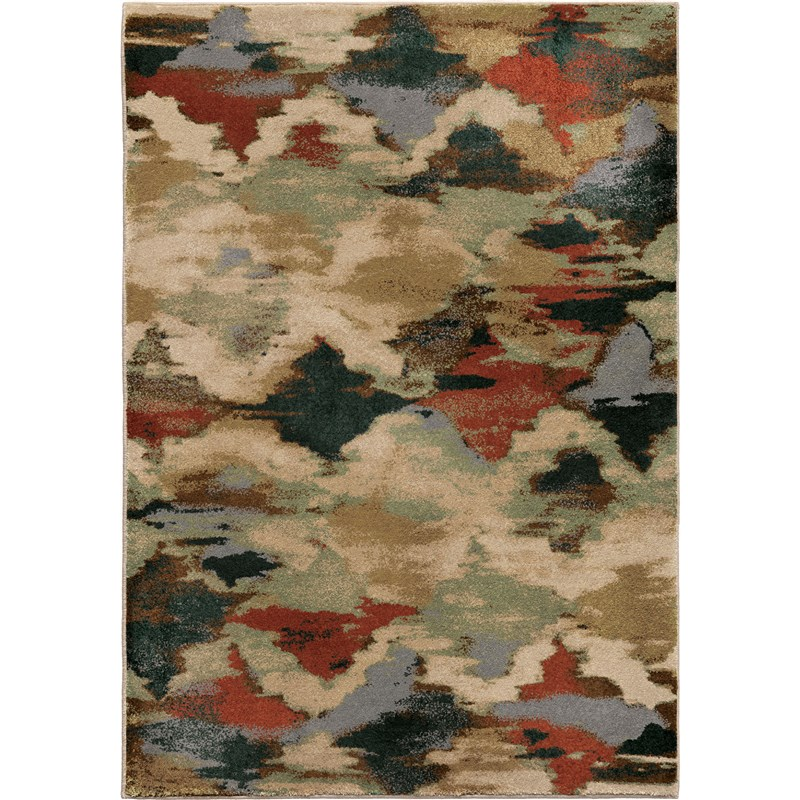 Orian Rugs Insanely Soft Abstract Harlequin Multi Area Rug 5'3 X 7'6