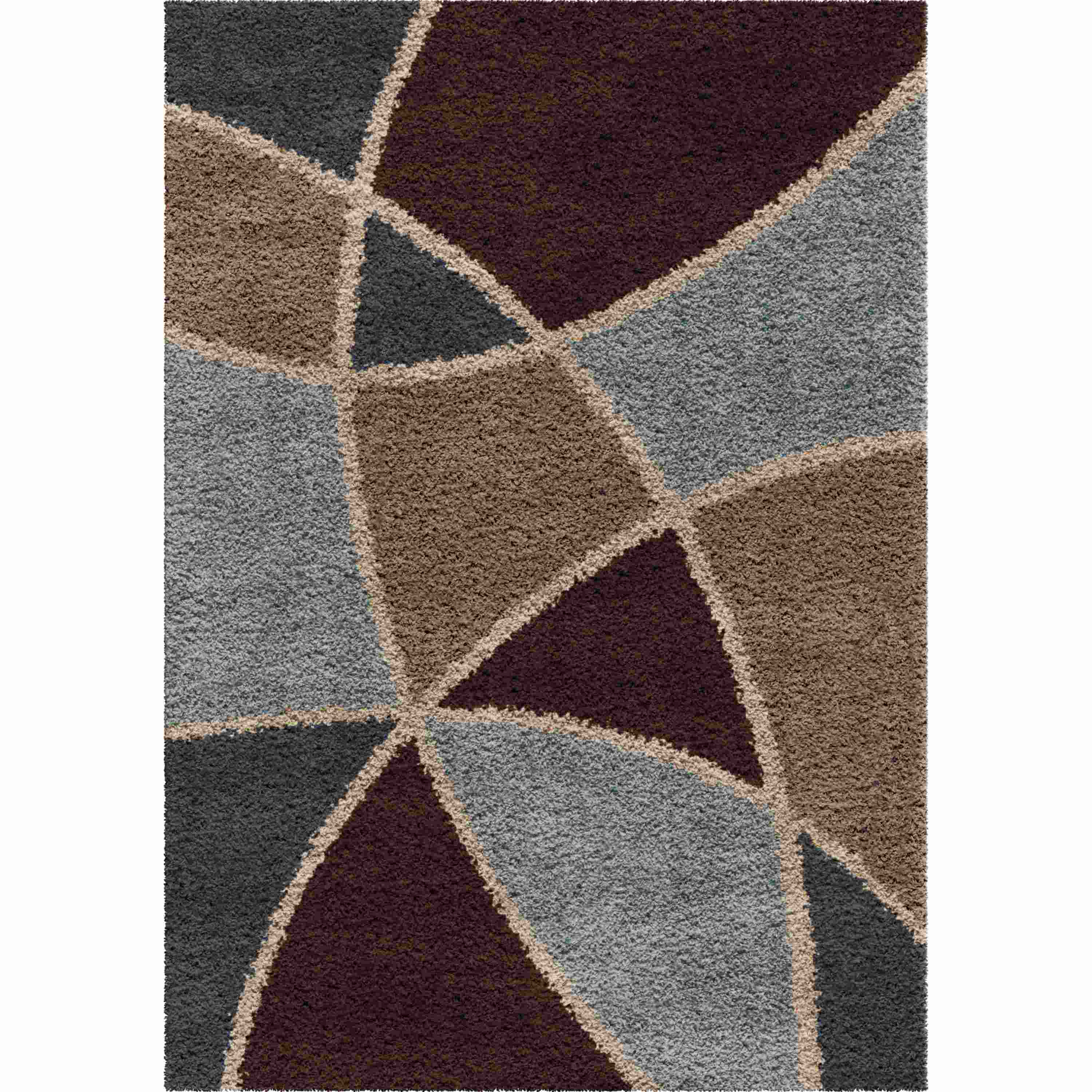 Orian Rugs Shag Abstract Divulge Brown Area Rug