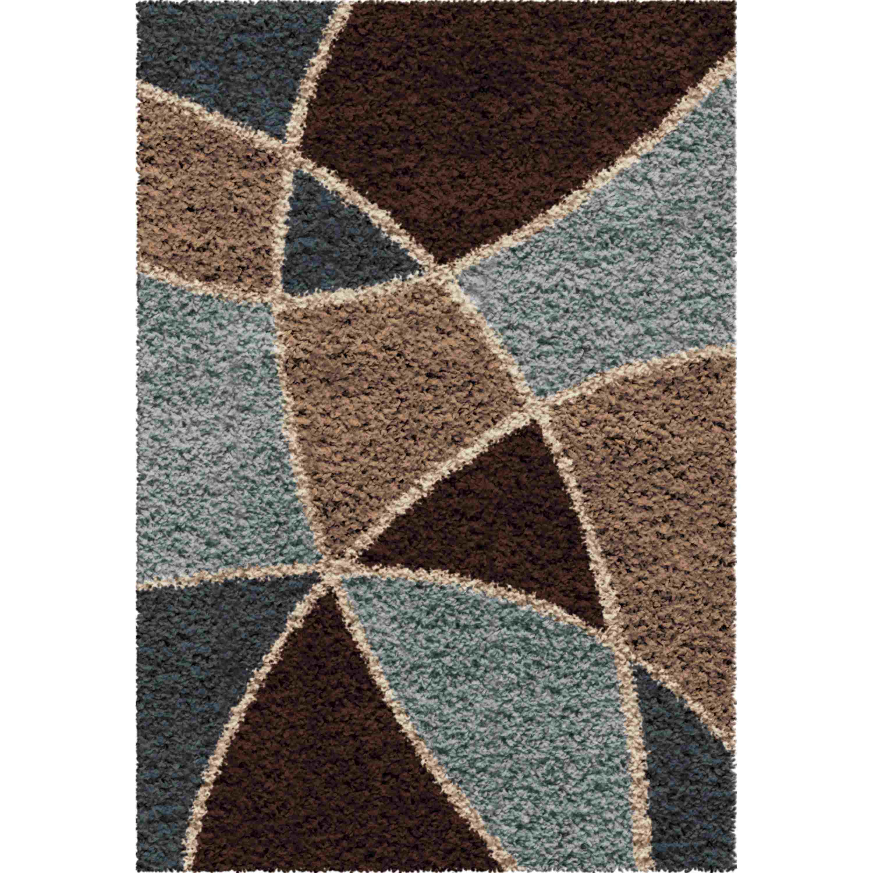 Orian Rugs Shag Abstract Divulge Brown Accent Rug