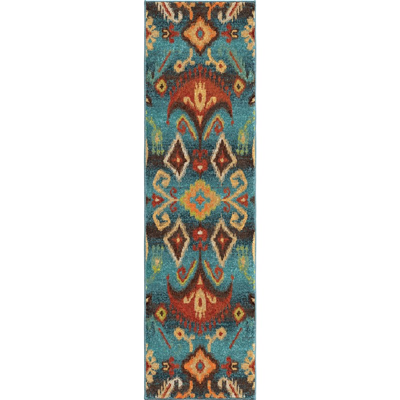 Orian Rugs Bright Color Southwest Aztec Monica Multi Area Rug 6'7 X 9'8