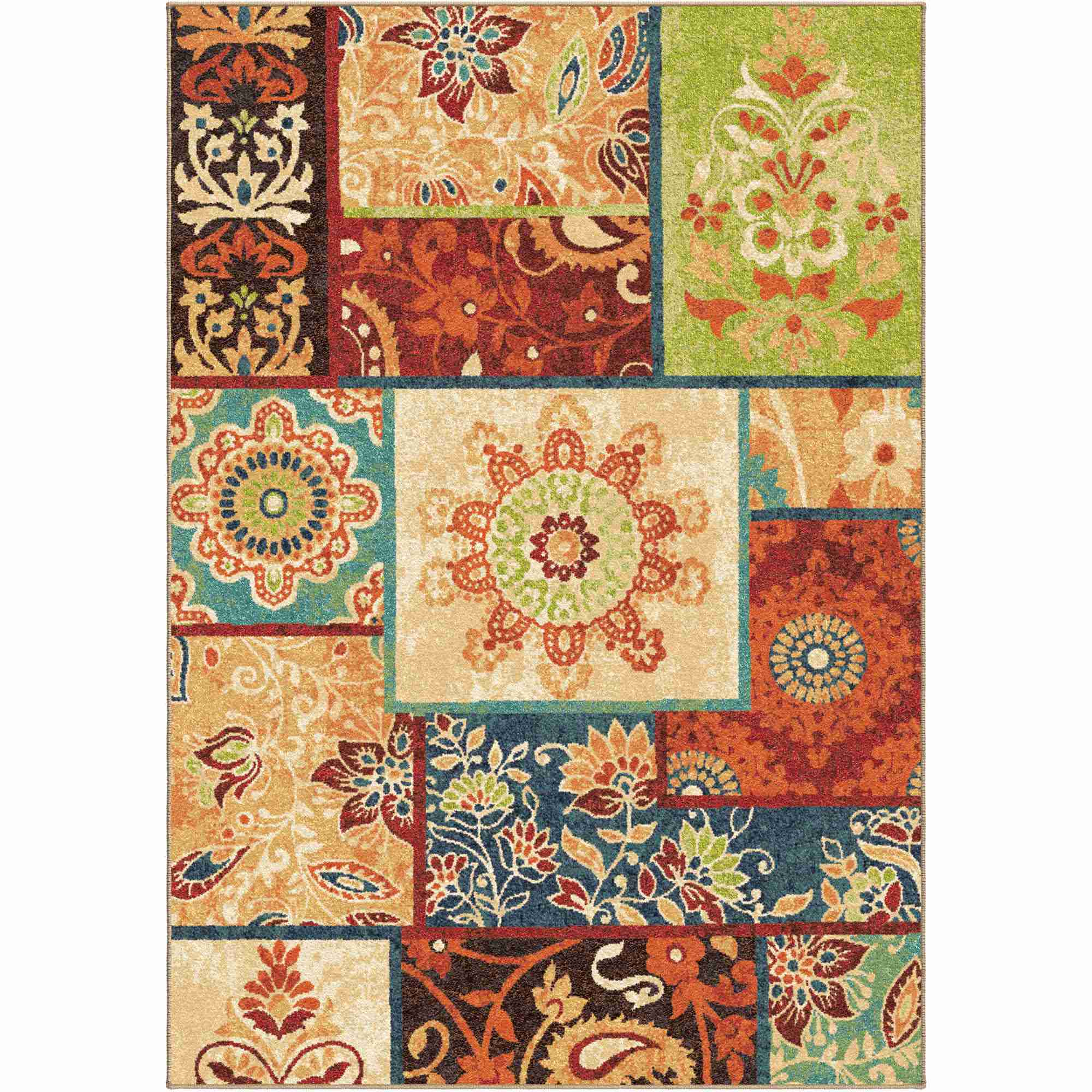Orian Rugs Bright Color Paisley Pasha Multi Area Rug
