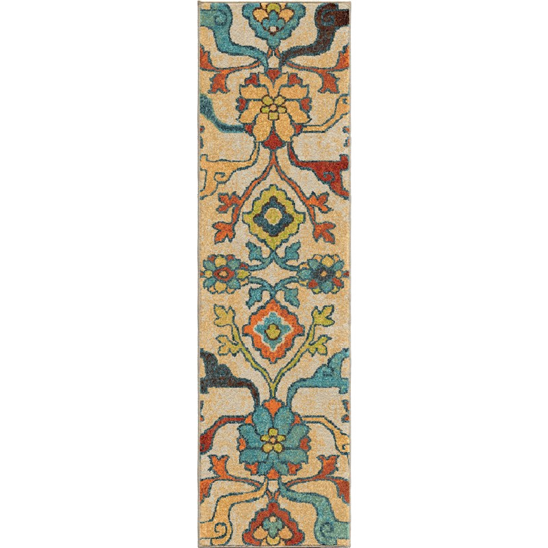 Orian Rugs Bright Color Floral Tibet Multi Runner 2'3 X 8'