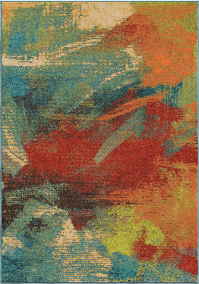 Orian Rugs Bright Color Abstract Impressions Multi Area Rug 5'3 X 7'6