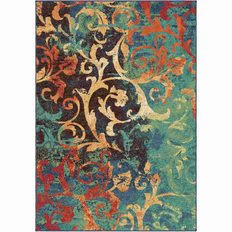 Orian Rugs Bright Color Scroll Watercolor Scroll Multi Area Rug