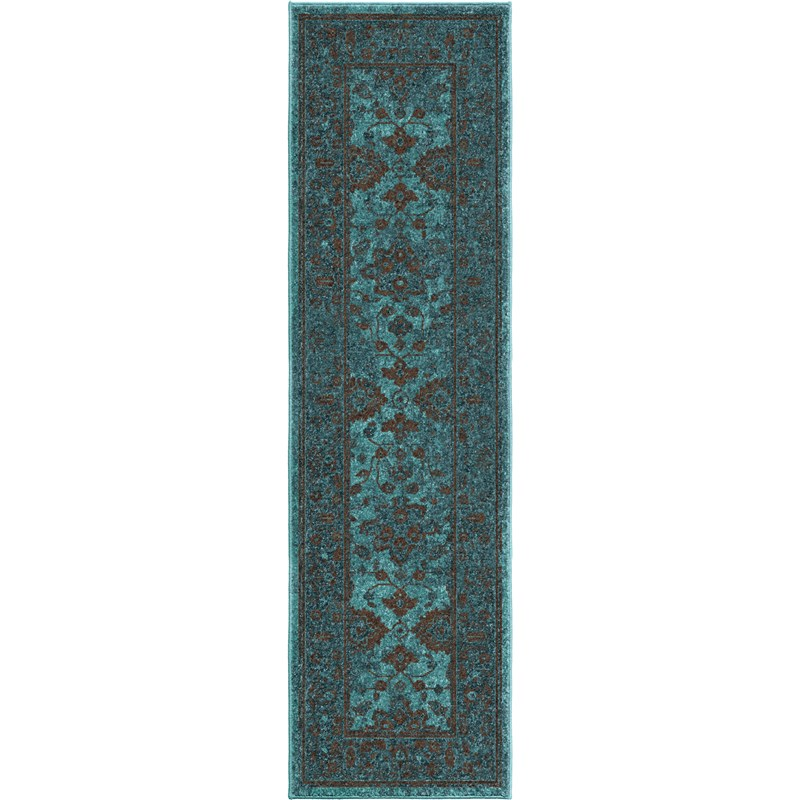 Orian Rugs Bright Color Modern Traditional Ethnicagra Blue Area Rug 5'3 X 7'6