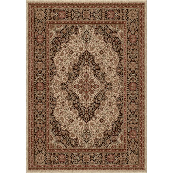 Orian Medallion Kashan Off White Area Rugs