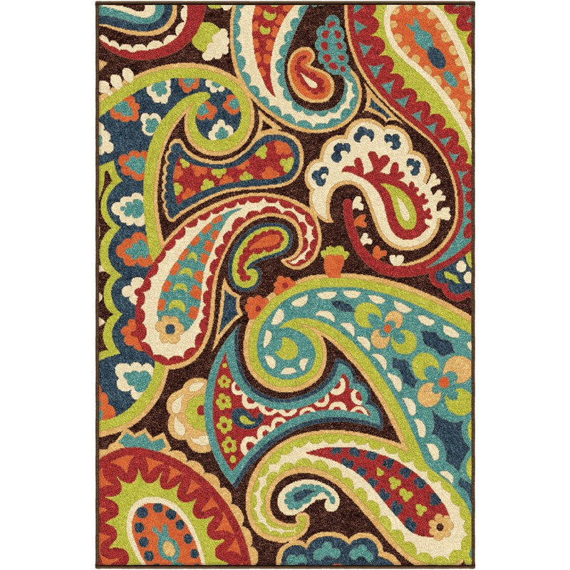 Orian Rugs Indoor/Outdoor Paisley Paisley Multi Area Rug (6'5