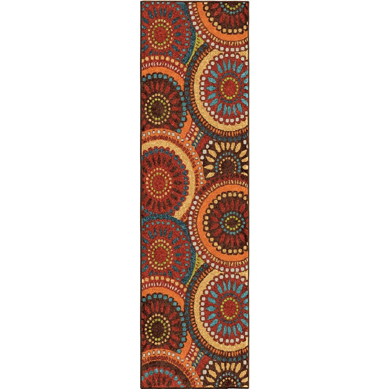 Orian Rugs Indoor/Outdoor Circles Merrifield Collage Multi Runner (2'3