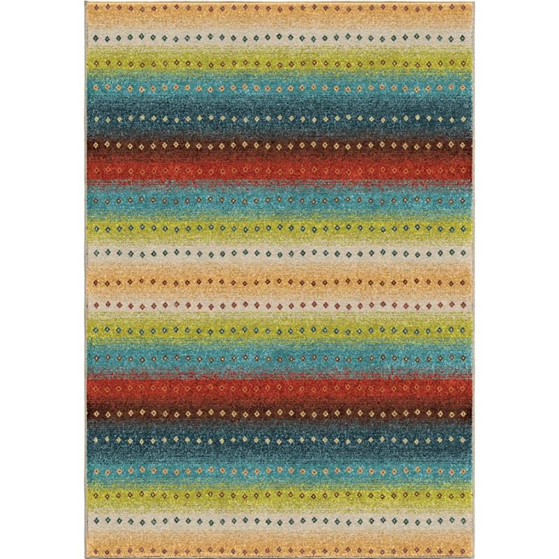 Orian Rugs Indoor/outdoor  Stripes Le-mans Multi Area Rug 7'8 X 10'10