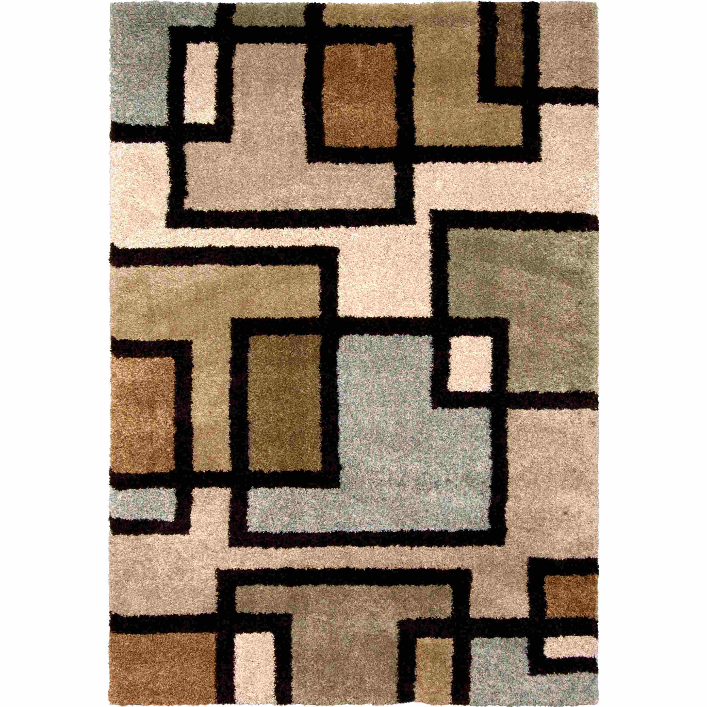 Orian Rugs Plush Blocks Huffing Bisque Area Rug