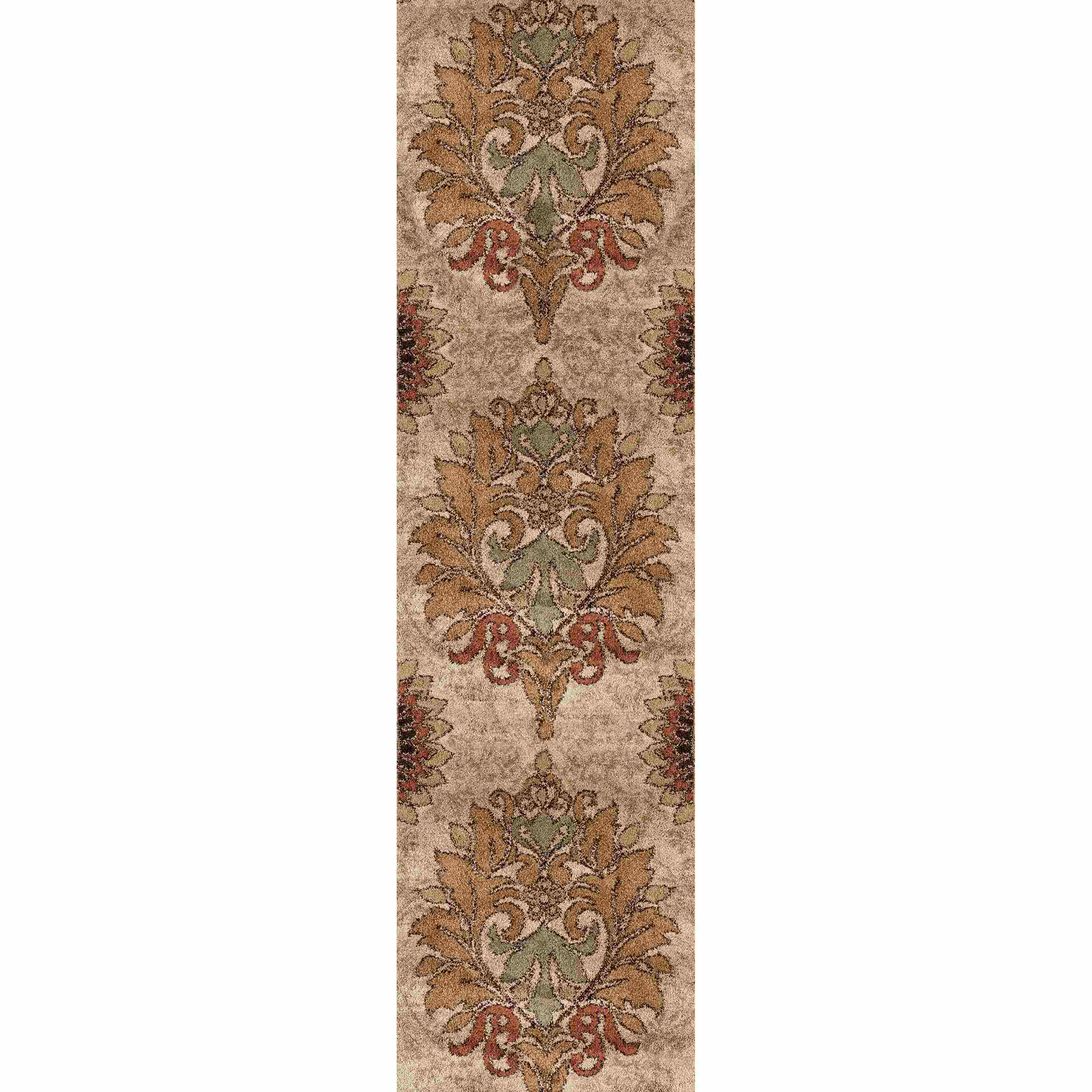 Orian Rugs Plush Damask Jacqueline Bisque Runner