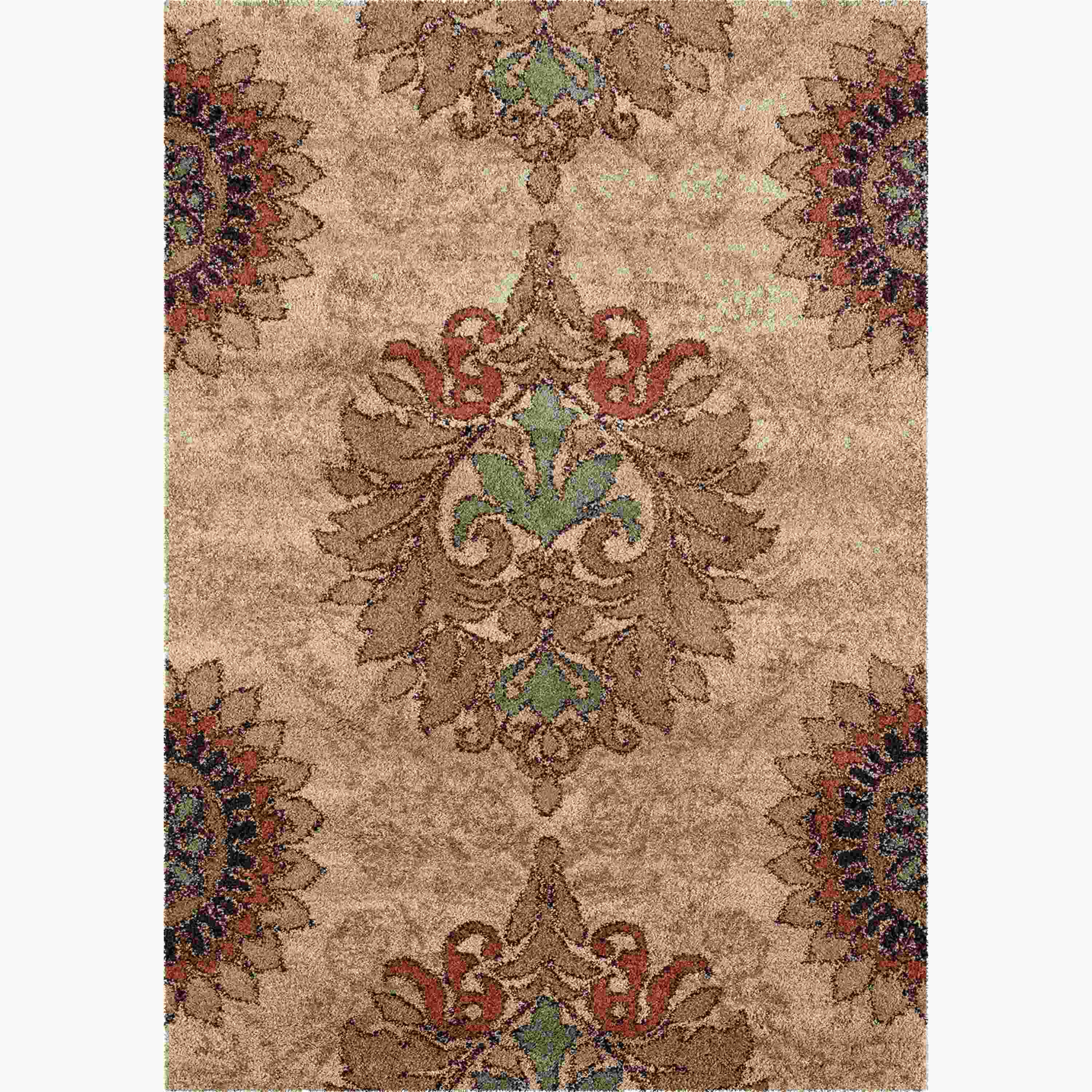 Orian Rugs Plush Damask Jacqueline Bisque Area Rug