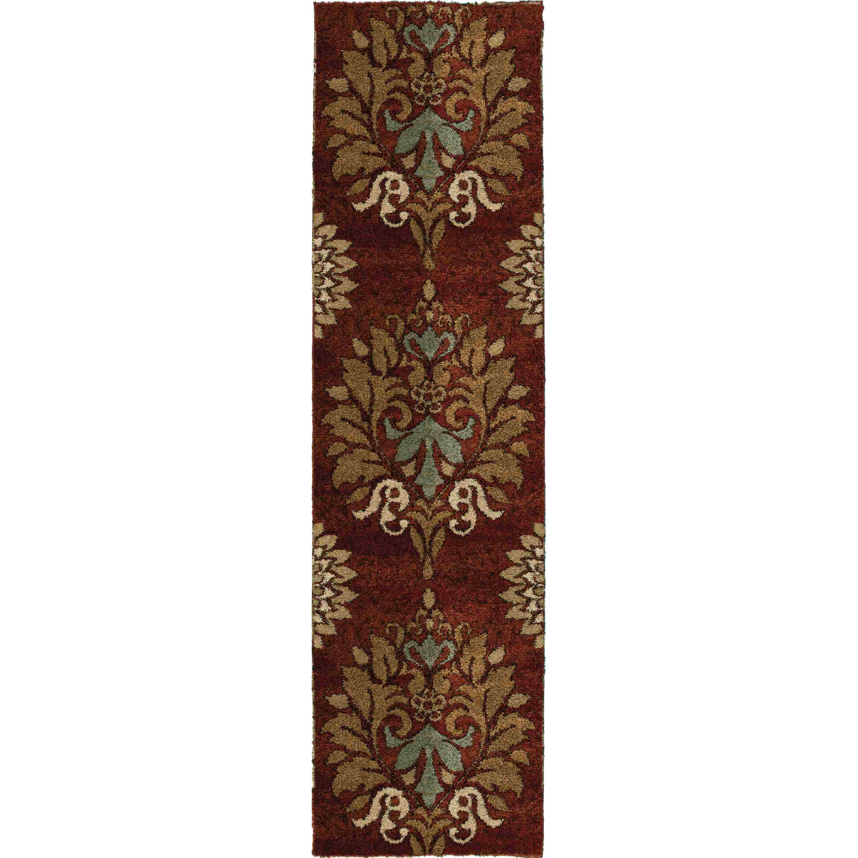 Orian Rugs Plush Damask Jacqueline Rouge Runner