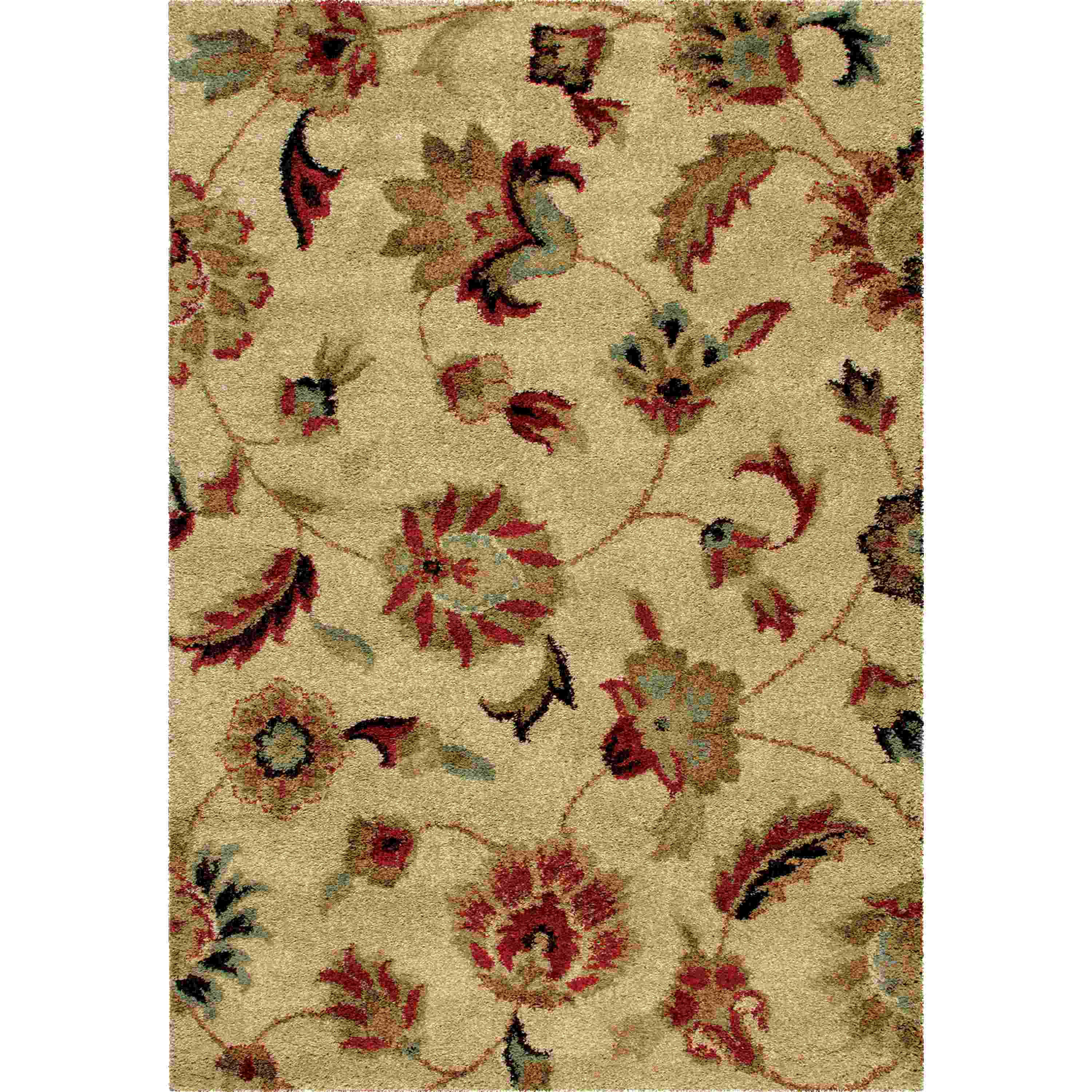Orian Rugs Plush Floral London Bisque Area Rug