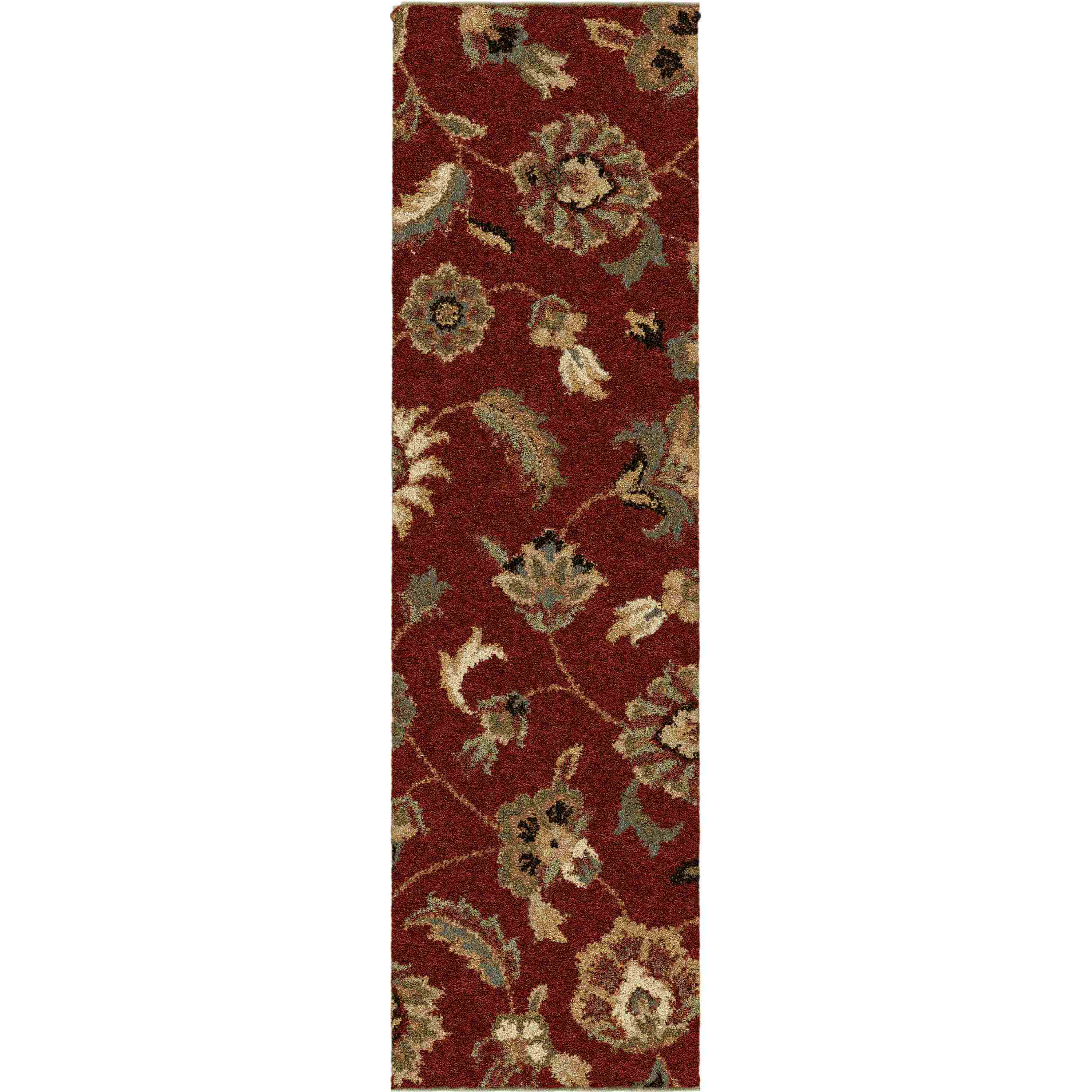 Orian Rugs Plush Floral London Rouge Runner