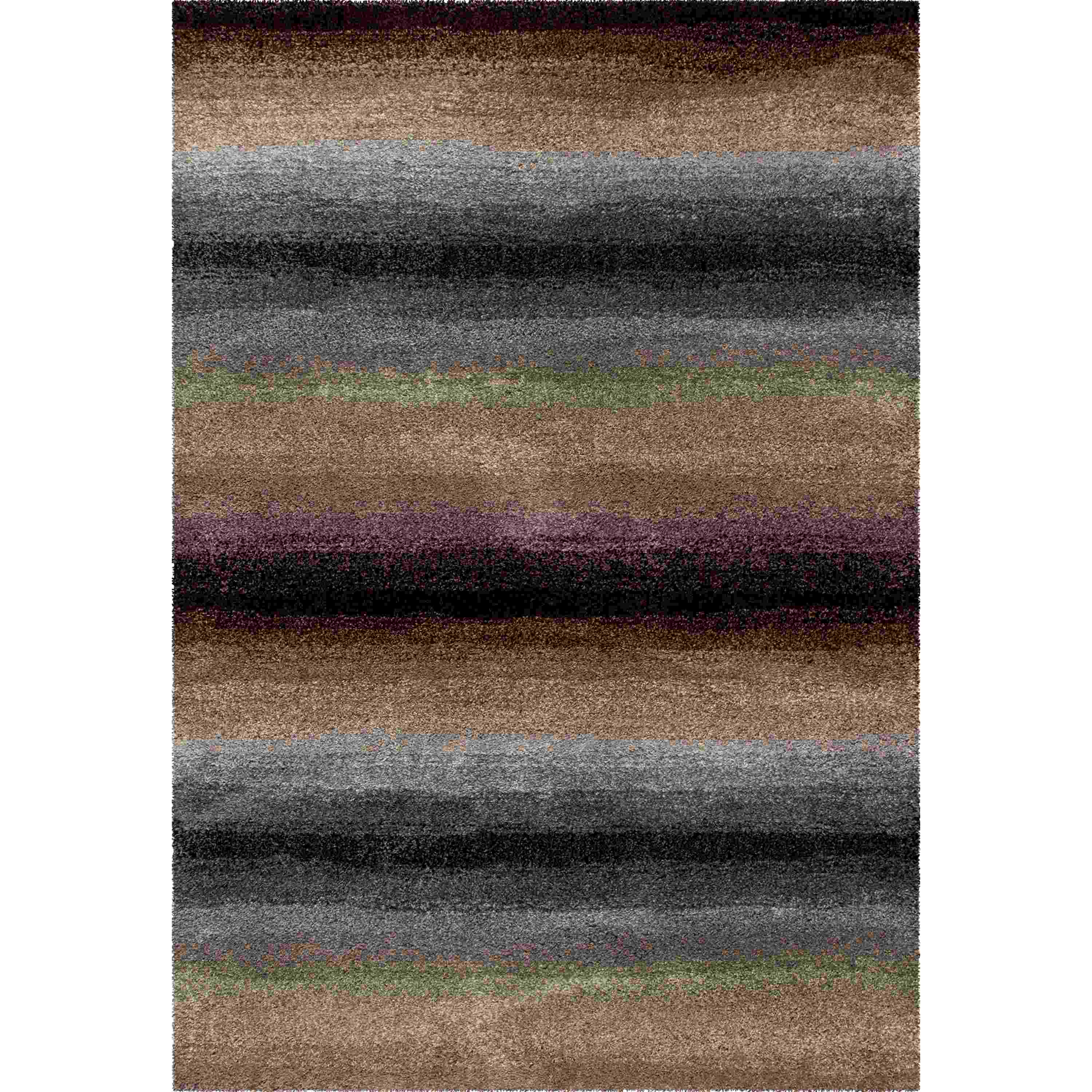 Orian Rugs Plush Stripes Skyline Rainbow Runner
