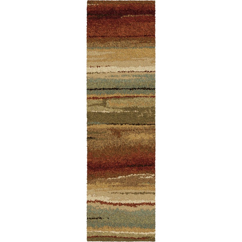 Orian Rugs Plush Stripes Dusk To Dawn Multi Runner