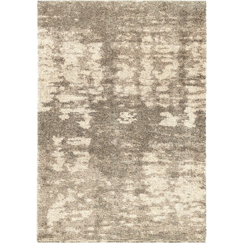 Orian Rugs Plush Abstract Rada Gray Area Rug 5'3 X 7'6