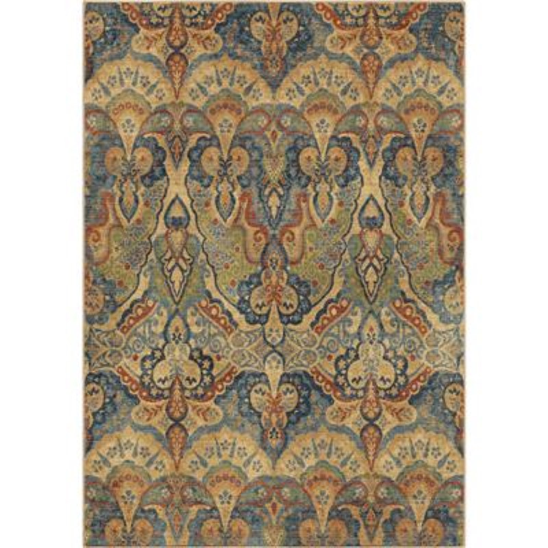 Orian Cottage Floral Natural Area Rugs