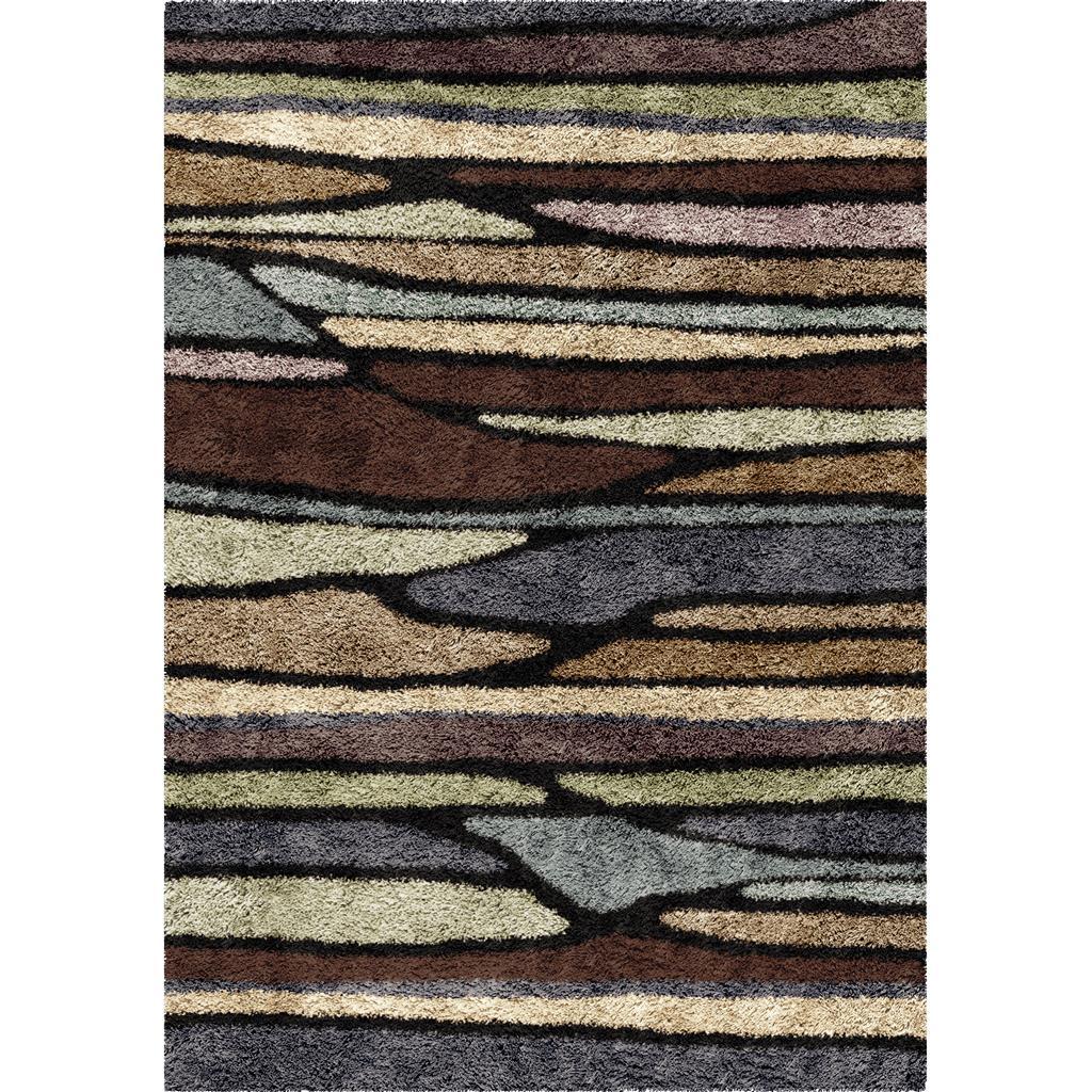 Orian Rugs Shag Stripes Plateau Multi Area Rug 5'3 X 7'6