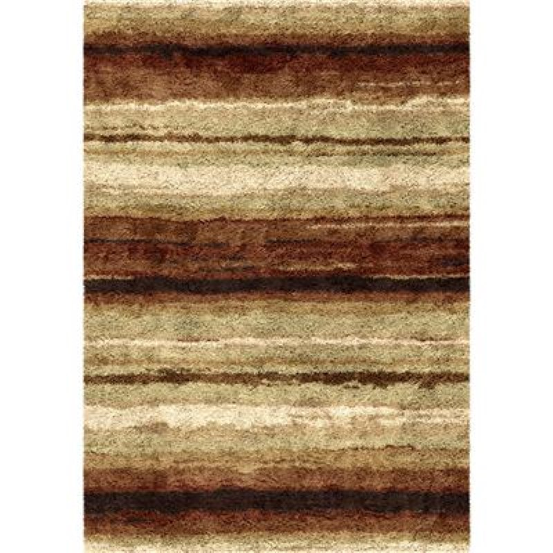 Orian Rugs Shag Stripes Sundown  Multi Area Rug