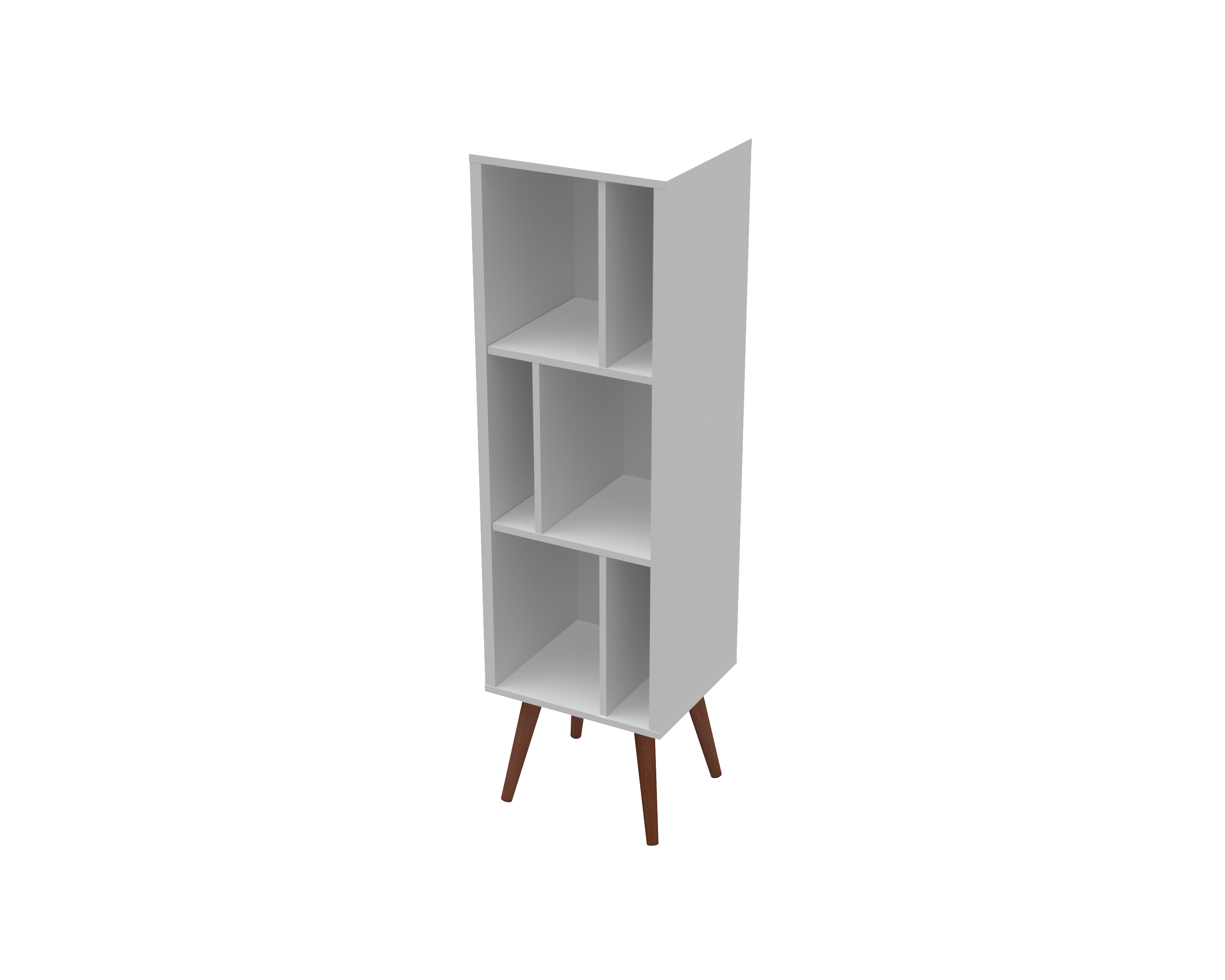 23603 Large Cubby Bookcase White Satin