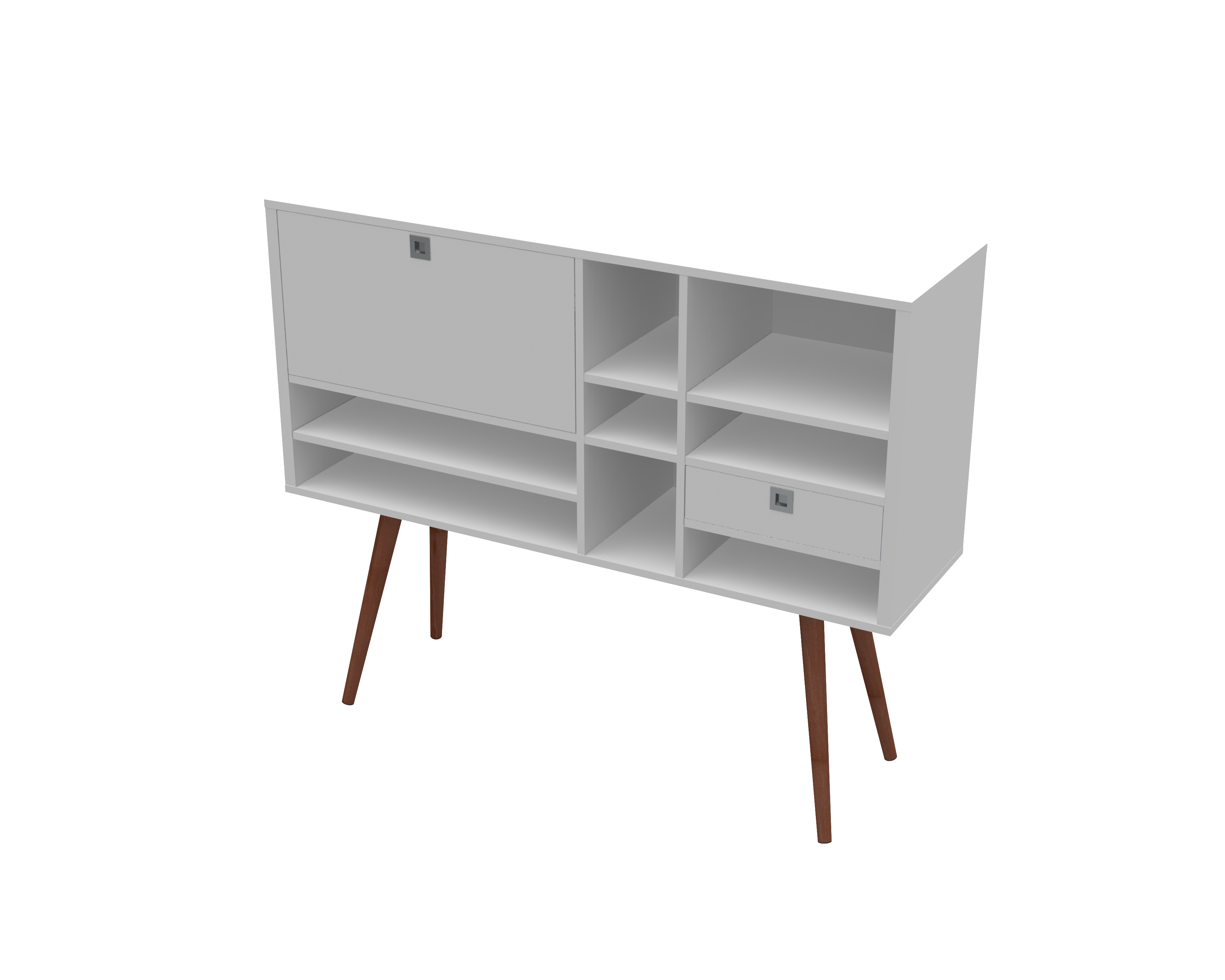 23604 Cubby Console White Satin