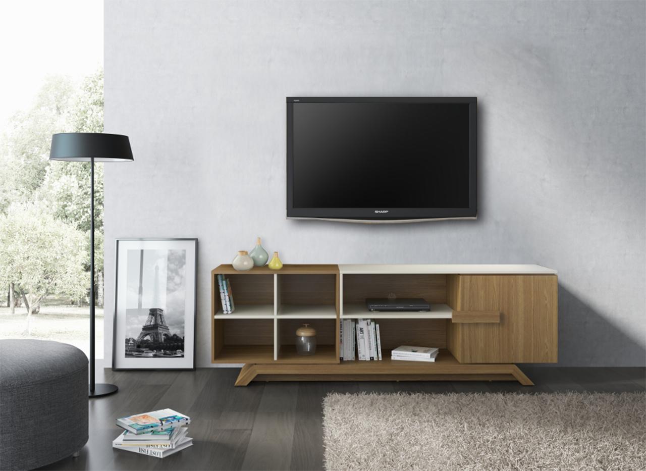 27021 Elegance Tv Cabinet Oak Hanover/caramel Fendi