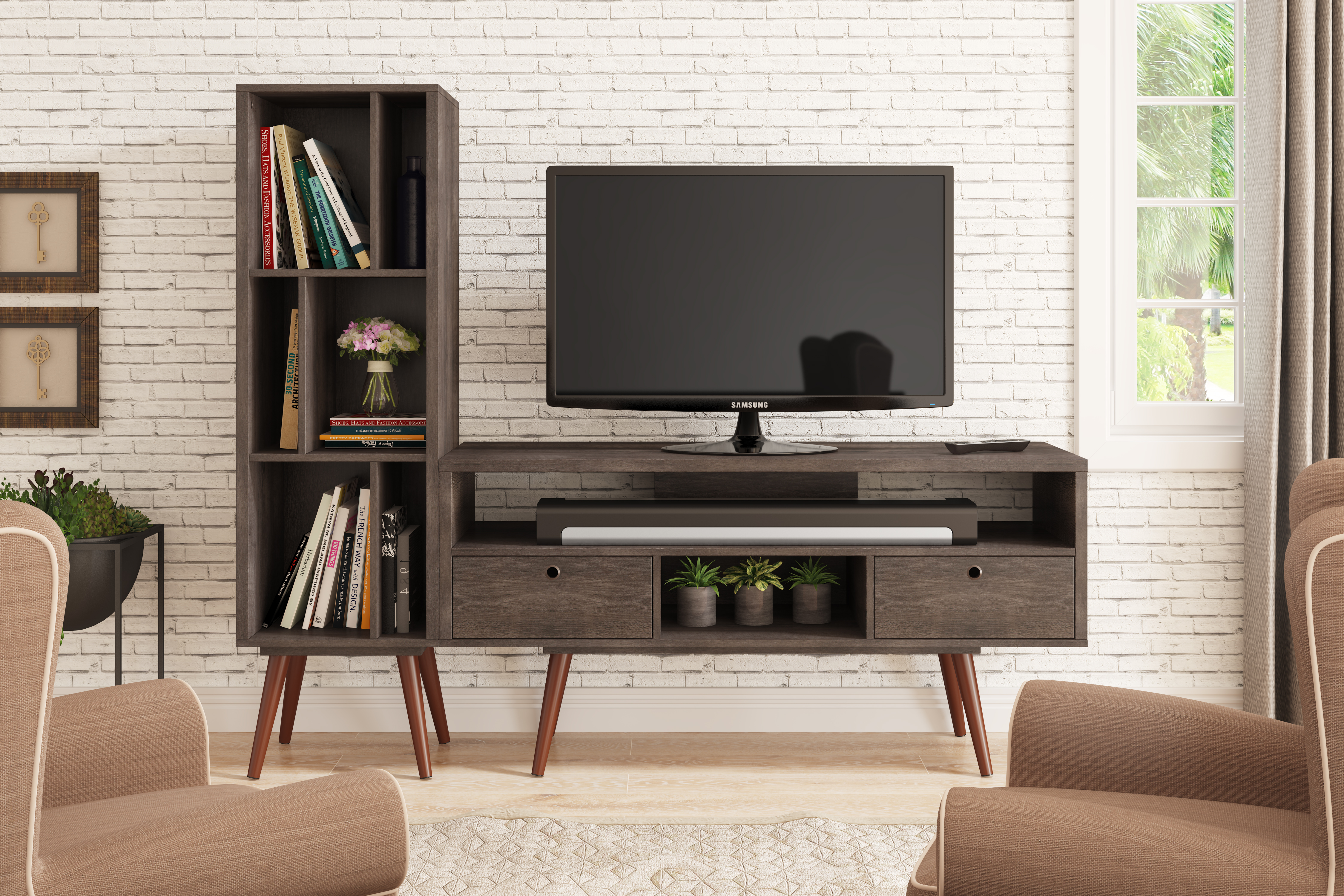 23103 Jessie Tv Stand Terrarum Walnut