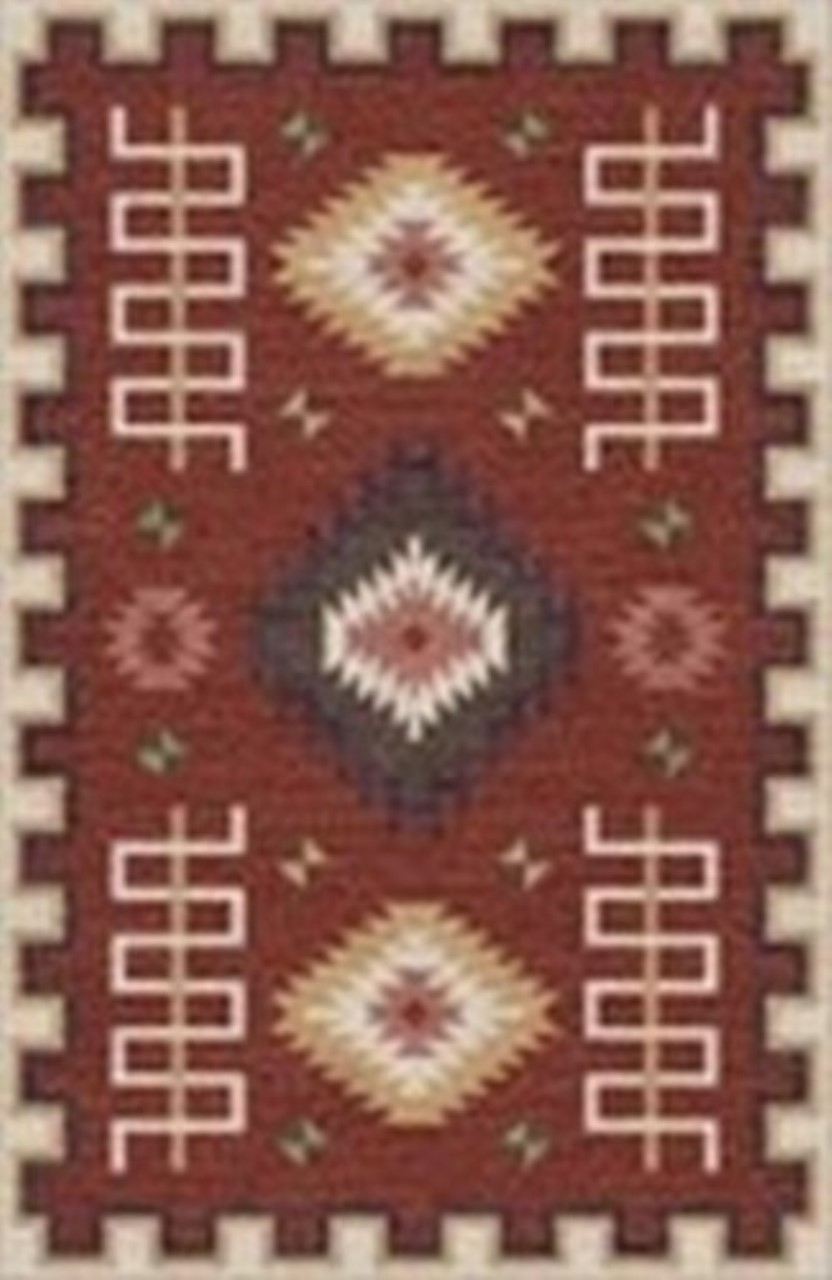 Rizzy Home  Mesa Mz161b Red Rug