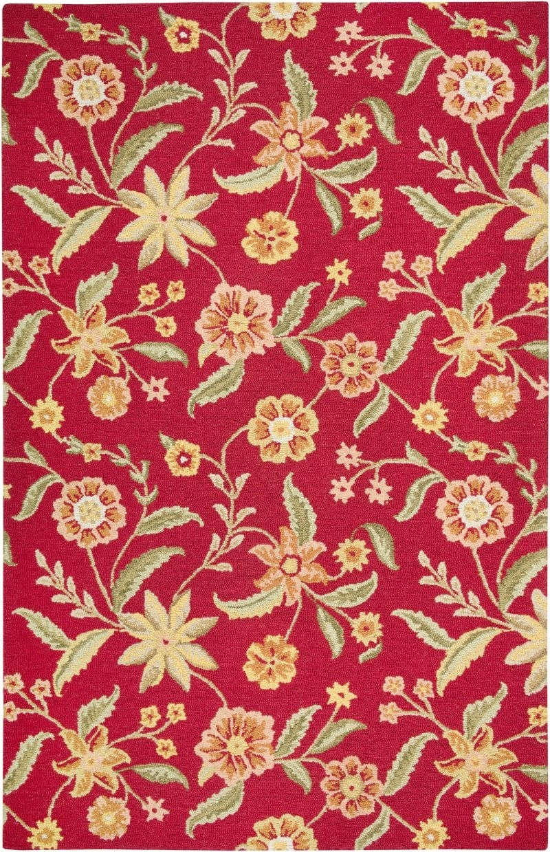 Rizzy Country Ct1585 Red Rug