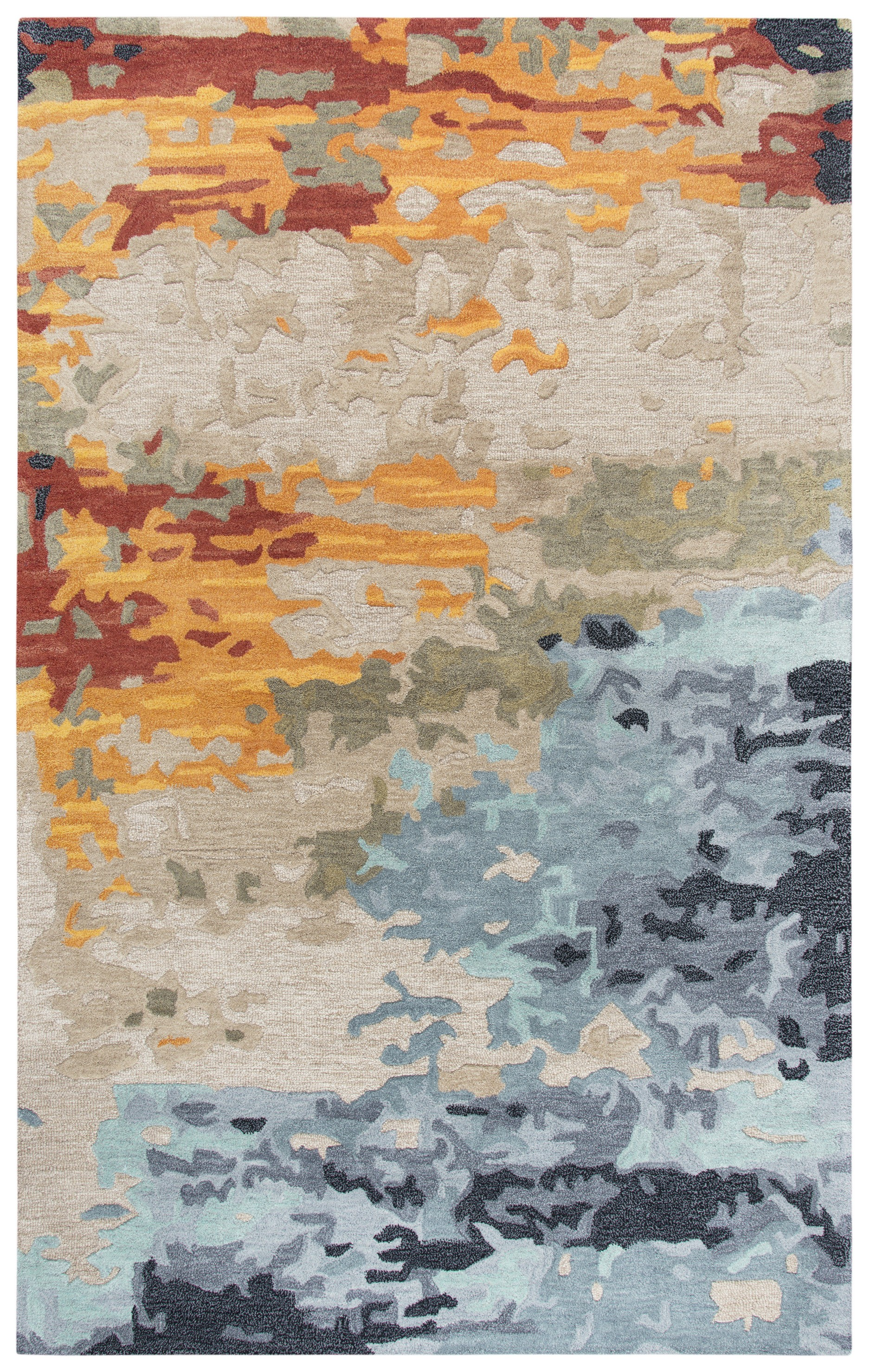 Rizzy Home Mod Tan Area Rugs