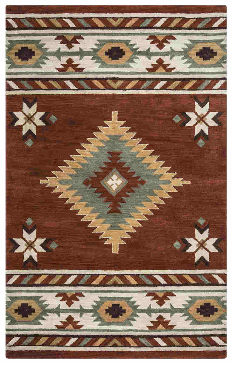 RIZZY SOUTHWEST SU1822 Navajo Red RUG