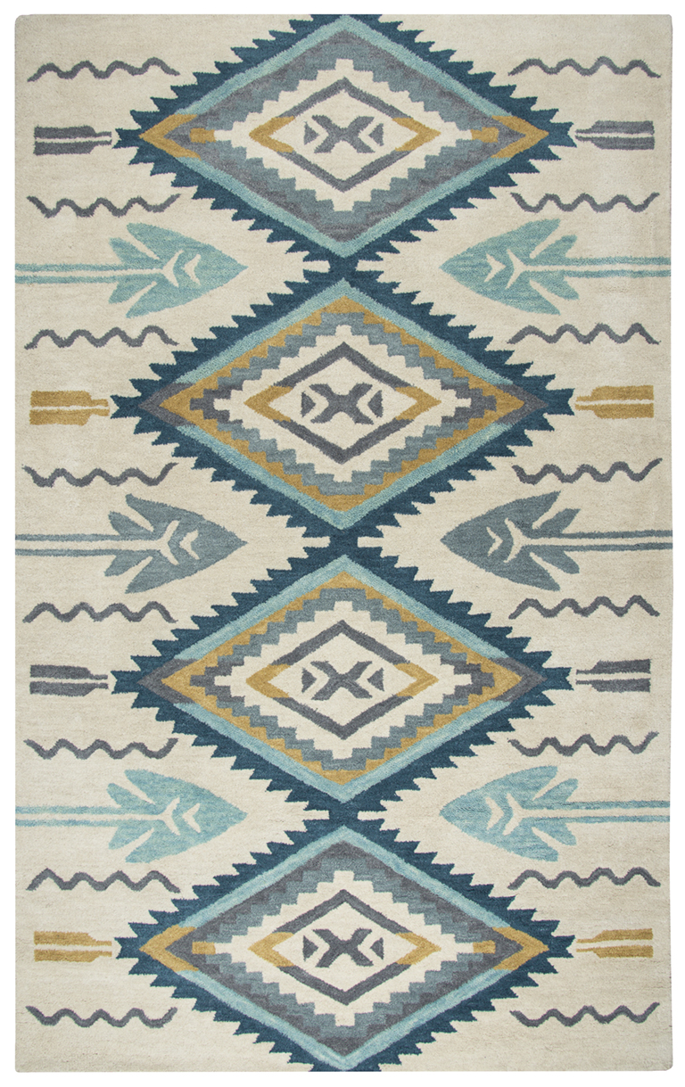Rizzy Home Southwest Aqua Area Rugs