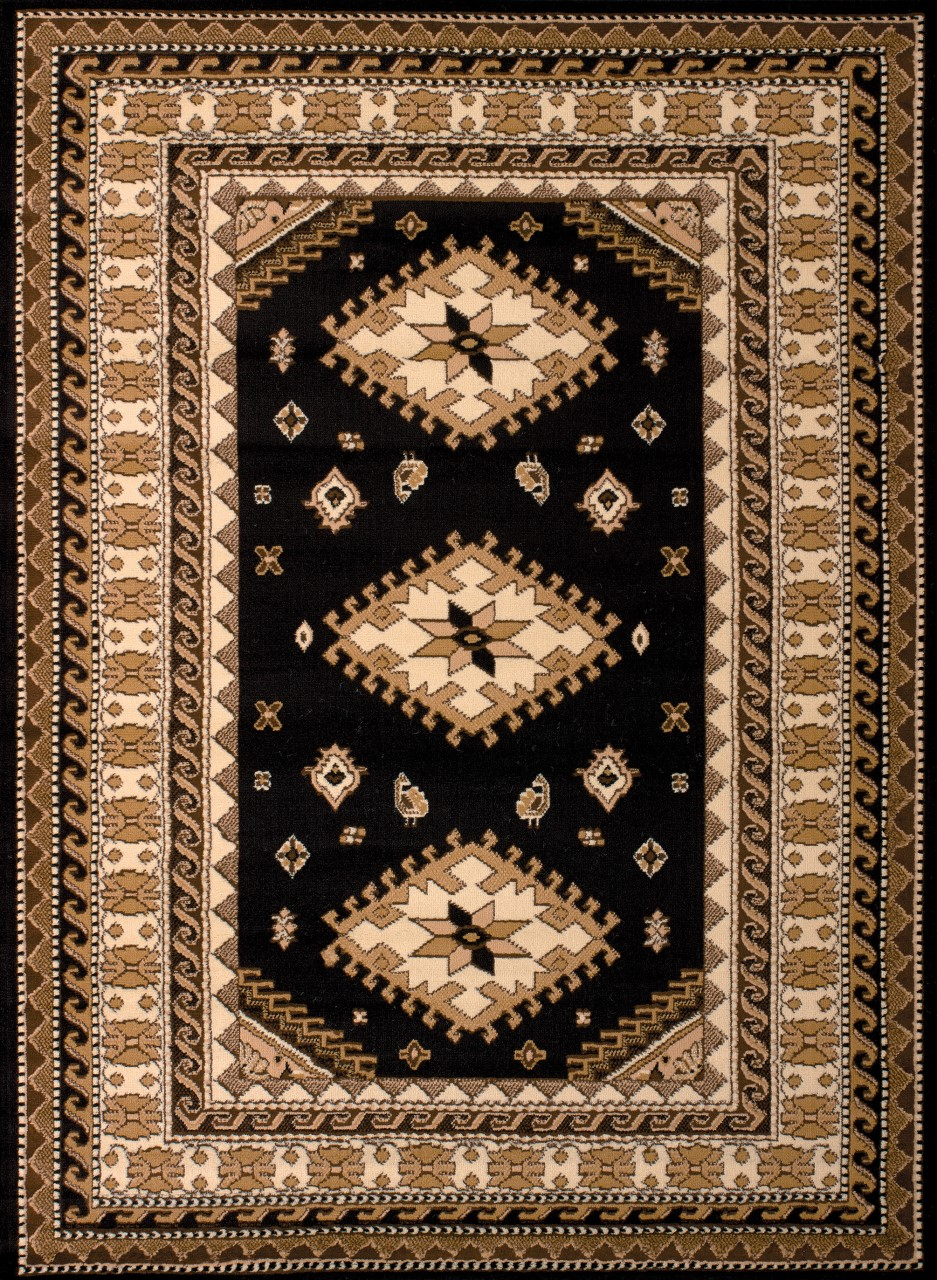 United Weavers Dallas Tres Black Accent Rug