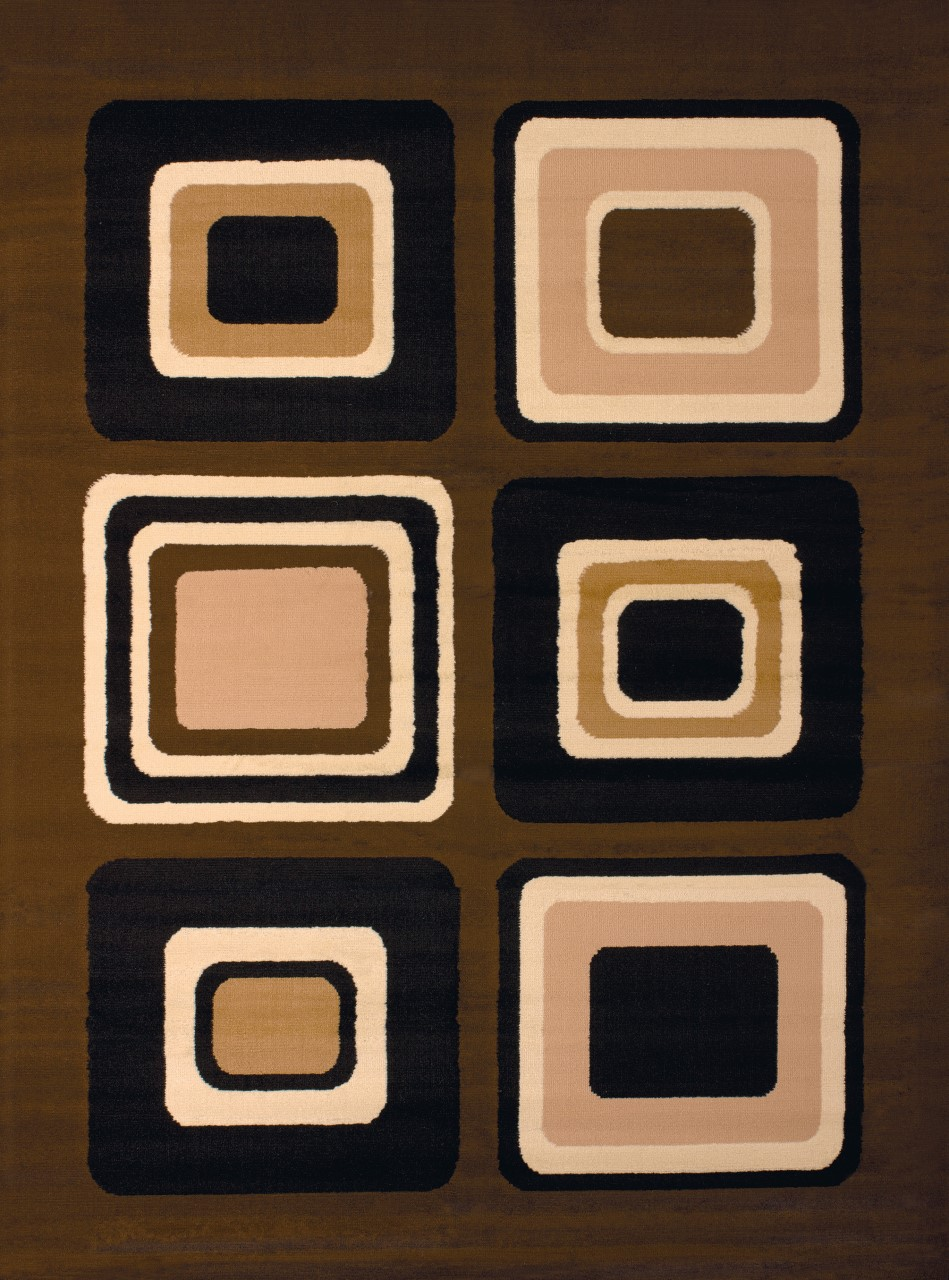 United Weavers Dallas Spaces Brown Accent Rug