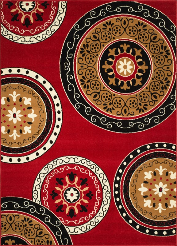 United Weavers Cafe Cozy Red Area Rug