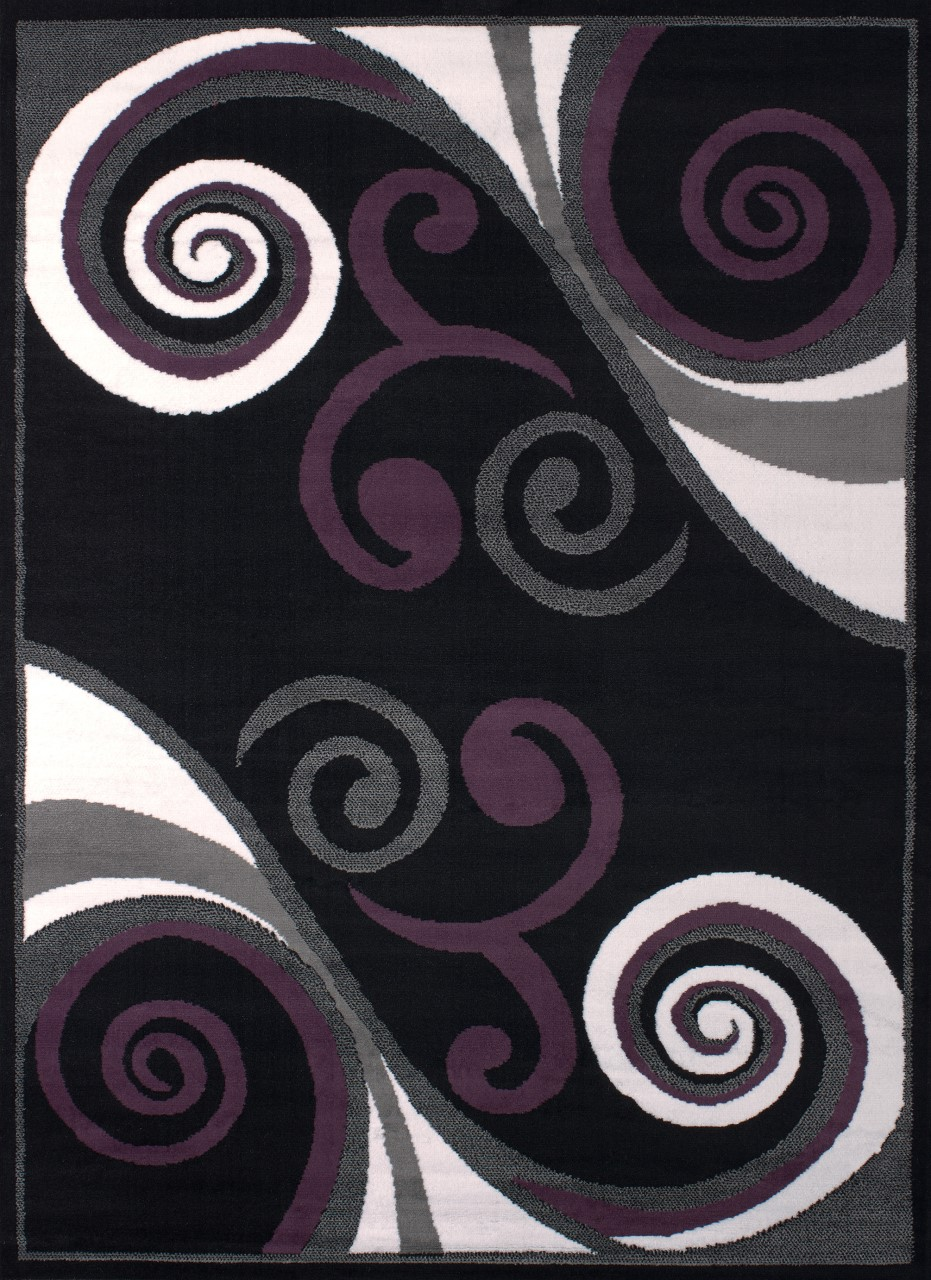 United Weavers Dallas Billow Black Accent Rug