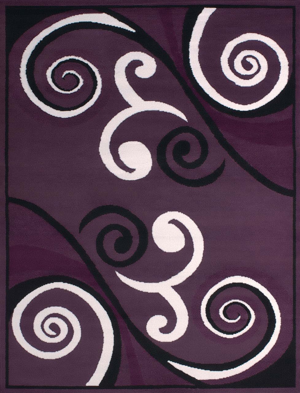 United Weavers Dallas Billow Plum Accent Rug